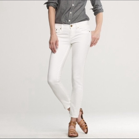 J. Crew Toothpick White Skinny Jeans Ankle Size 26